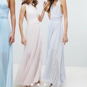 ASOS multi tie maxi dress